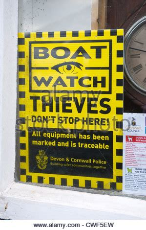 u boat watch registration boat watch warning sign to thieves on car ferry that