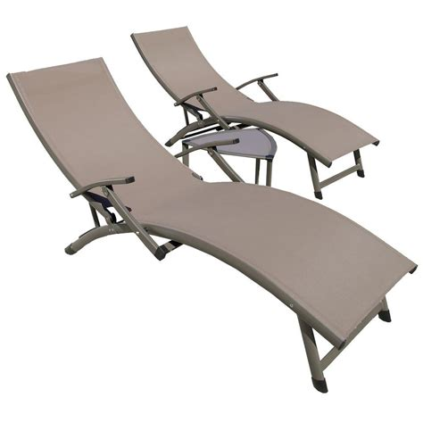 patio sol rst brands sol sling 3 taupe patio lounger and side