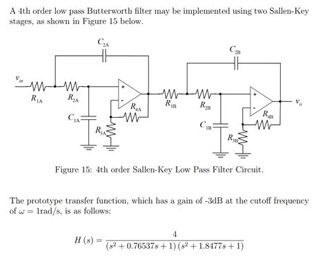 sallen key low pass filter capacitor 1 using an capacitor values of c1a c2a c1b chegg