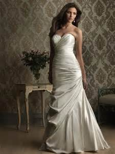 fitted wedding dresses stunning satin sweetheart fitted sheath wedding dresses prlog