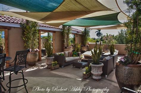 shade sails rooftop patio outdoor living spaces