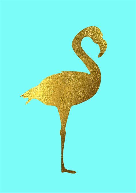 Printed Poster Flamingo flamingo print faux gold foil poster flamingo