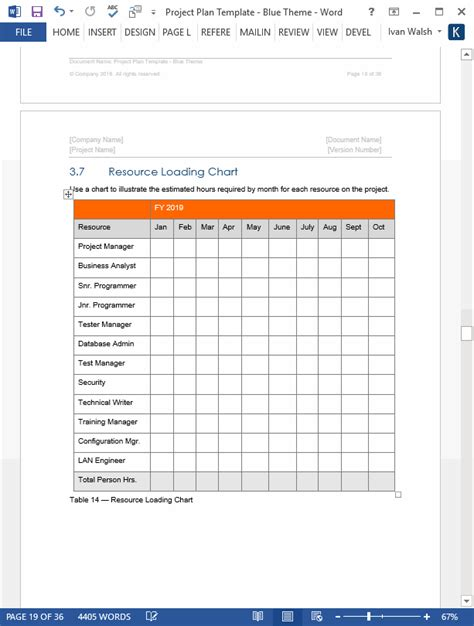 project plan templates ms word   excels