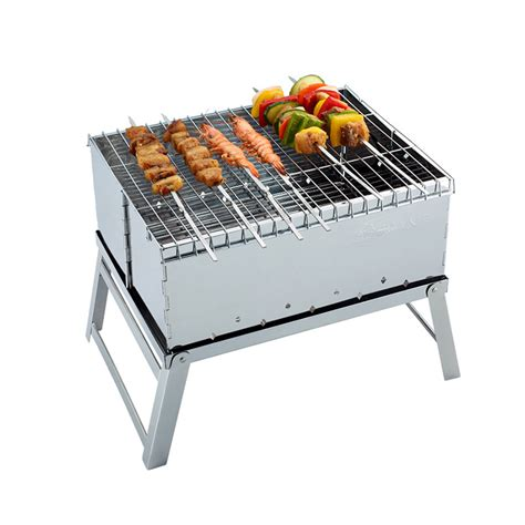 Mini Cart Bbq high quality stainless steel mini bbq grill charcoal grill outdoor portable folding barbecue