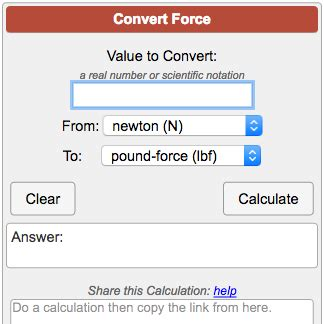 converter kn to ton force conversion calculator