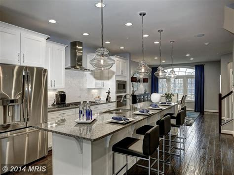 Floating Kitchen Island kitchen with kitchen island amp stone tile in annapolis md