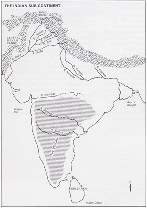 Outline Map Of Indian Subcontinent by The Gallery For Gt Indian Peninsula Map