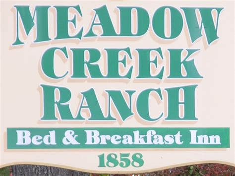 bed and breakfast california home meadow creek ranch inn