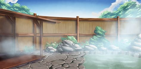 aguas termales anime places   anime scenery