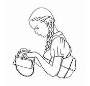 Girl Is Looking For Her Lipstick Coloring Page  SuperColoringcom