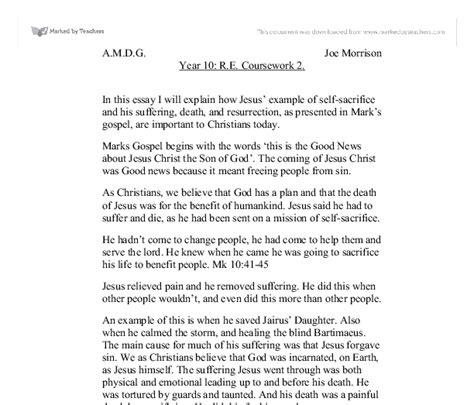Jesus Essay by Who Is Jesus Essay