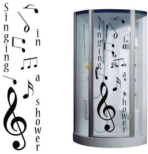 des stickers sur le theme de la musique pour cabine de