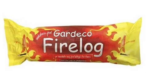 gardeco log chiminea fuel 163 3 49