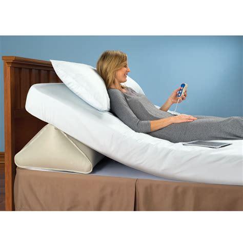remote controlled adjustable incline mattress wedge hammacher schlemmer