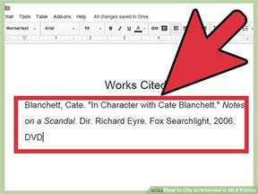 how to cite an in mla format with sle citations
