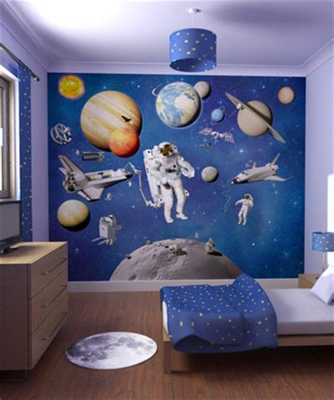space themed wall murals wall mural inspiration ideas for boys rooms