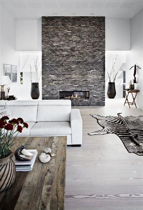 Rustic Modern Fireplace by 20 Warm Fireplaces Messagenote