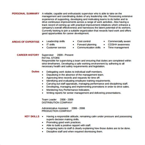 Supervisor Resume by 13 Sle Supervisor Resumes To Free Sle