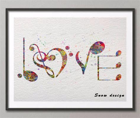 Wall Hiasan Dinding Canvas Print Unik 10 Ukuran 60x40 Cm cat air asli musik cinta kanvas lukisan abstrak wall