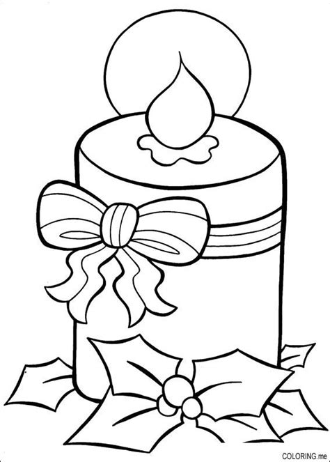 free coloring pages of a christmas candle