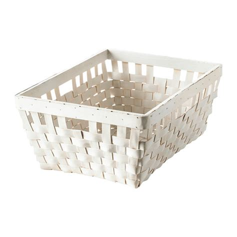 ikea baskets knarra basket white 38x29x16 cm ikea