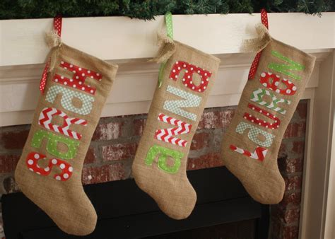 personalized stockings burlap christmas stocking personalized traditional
