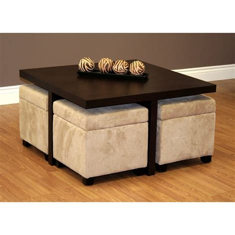 square storage ottoman coffee table square coffee table with beige velvet ottomans decofurnish