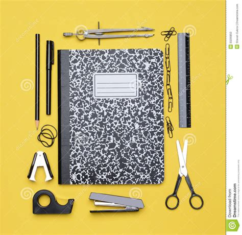 picture book themes theme book with school supplies stock photo image 33290850