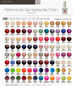gelish colors gelish nail color chart