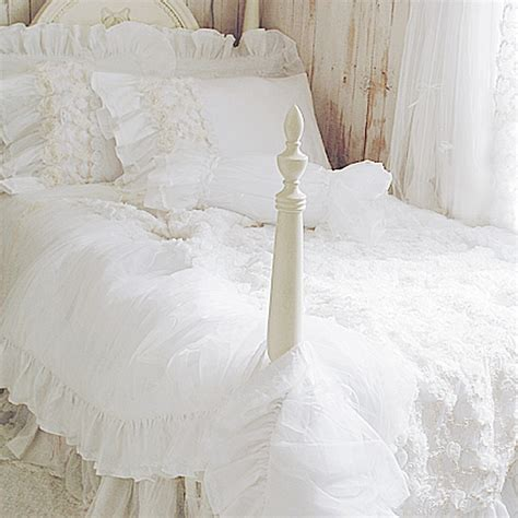 white ruffle bedding white ruffle bedding