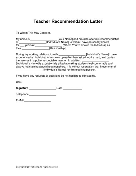 Student Recommendation Template by Free Recommendation Letter Template With Sles