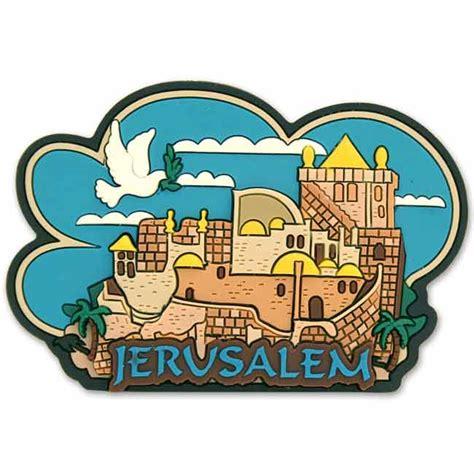 Souvenir Dunia Magnet Kulkas Israel Jerusalemme jerusalem 3d magnet rubber magnet featuring city of jerusalem and the dove of peace