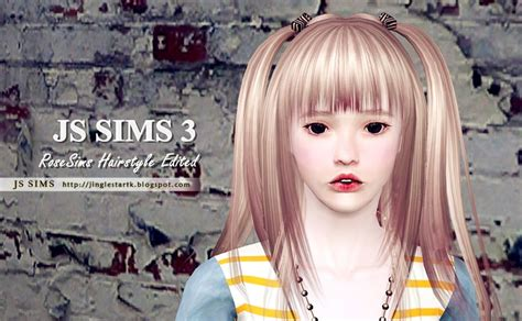 custom content hair hair by js sims 3 custom content caboodle