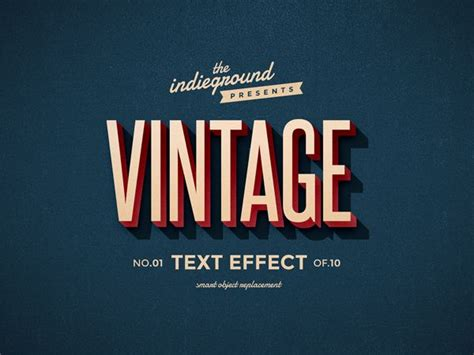 graphic design effect trendgraphy retro vintage text effects by roberto perrino