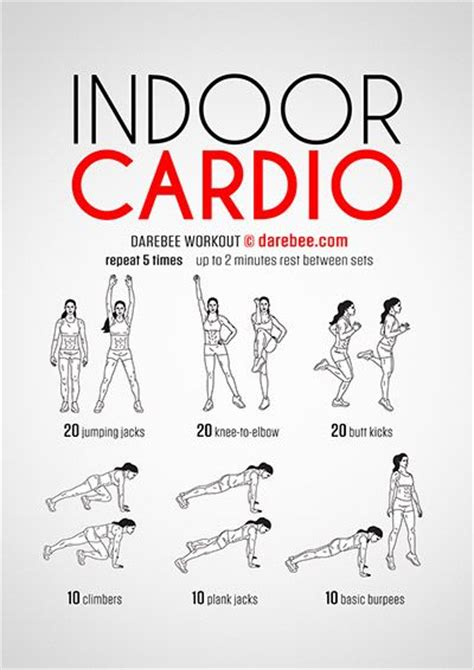 printable workout indoor cardio crusher weight loss tips 287 best images about fitness center on pinterest abs