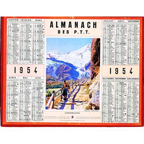 Calendrier Ptt Calendrier Almanach Des Ptt 1954 Oberthur
