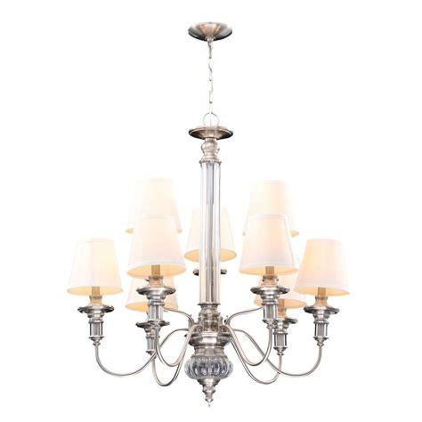 hton bay gala 9 light polished nickel chandelier 14694