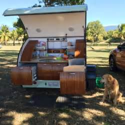 Gidget Retro Camper by Gidget Teardrop Camper Takes Sliding Approach To Extra Space