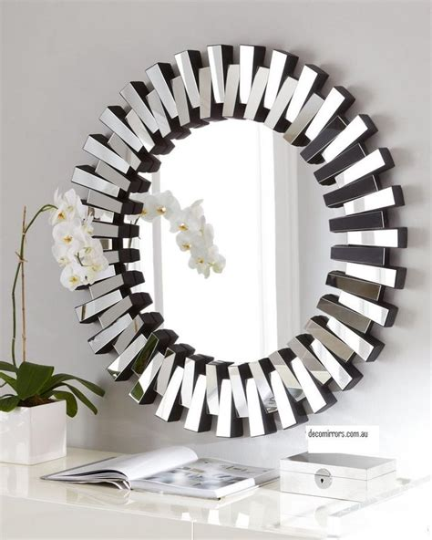 mirror decoration home decor silver round mirror wall decor pinterest