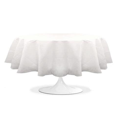 nappe pour table ronde 1307 nappe ronde blanche 240 cm pas cher en intiss 233 prix