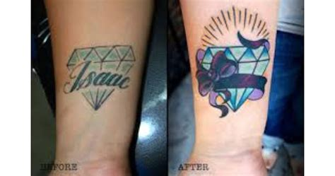 diamond tattoo cover up ideas 30 incredible ideas to cover up name tattoos of your ex