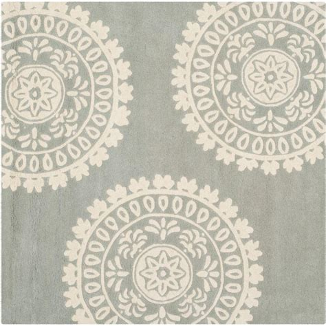 7 X 7 Square Area Rugs by Safavieh Grey Ivory 7 Ft X 7 Ft Square Area Rug