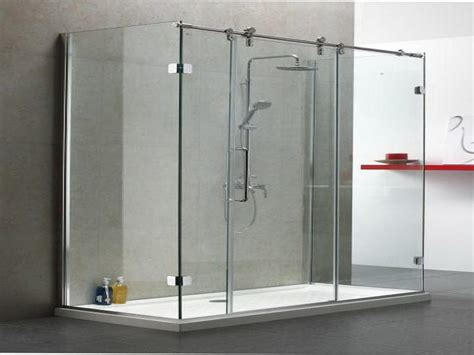 Glass Shower Doors Which Are Frameless Sliding Doors Glass Shower Sliding Doors