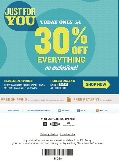 old navy coupons print old navy canada coupons save 30 on everything hot