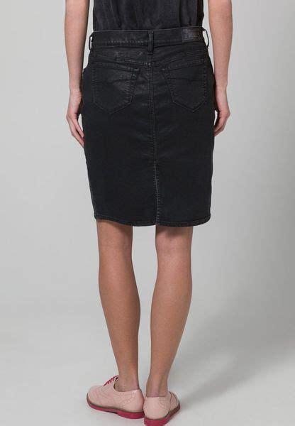 diesel phorse denim skirt black in black lyst