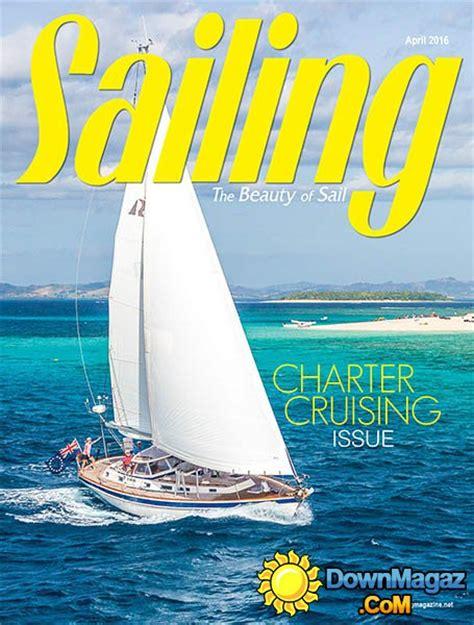 sailing april    magazines magazines