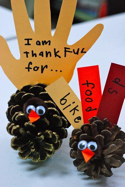 thanksgiving crafts for to make at home how to make quot thankful quot pinecone turkey crafts with