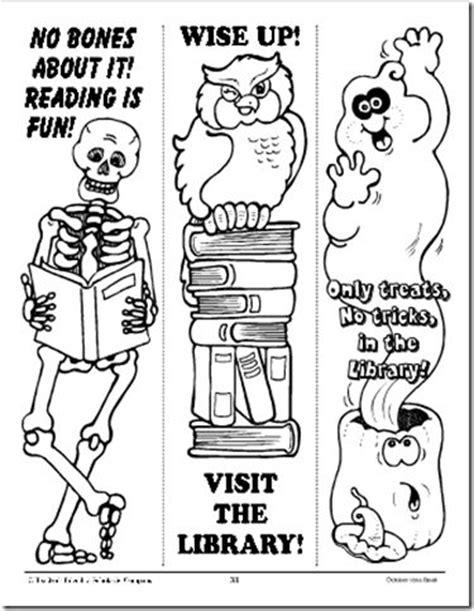 printable halloween bookmarks to color halloween bookmaks handmade pinterest