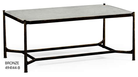 contemporary rectangular glass top coffee table
