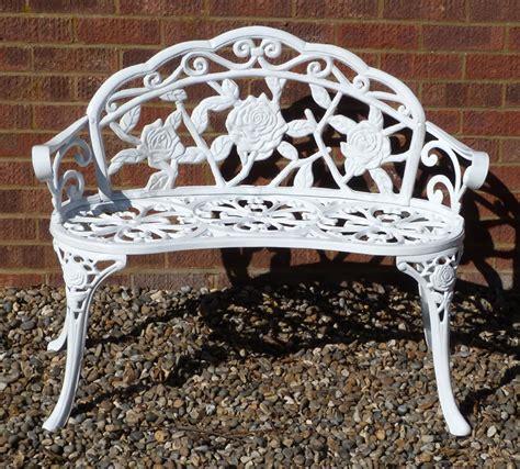 white wrought iron garden bench white metal bench wrought iron garden gates white wrought